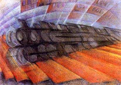 Russolo, Luigi (1885-1947) - 1912 Dynamism of a Train | Flickr Keyboard Family Instruments