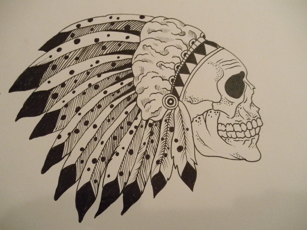 Uncategorized Drawing Of Indian indian skull ink drawing of skeleton david stone flickr