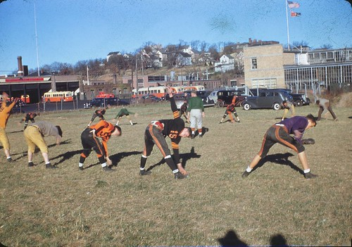 1946 North High Football Practice - Worcester, Massachusetts | by The Cardboard America Archives