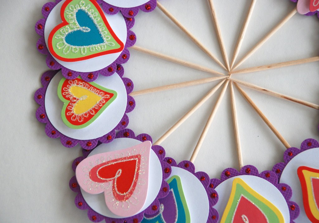 Funky Heart Cupcake Toppers 2