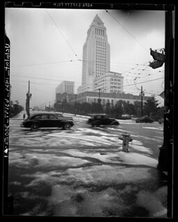 Snow in downtown Los Angeles, 1949 | by A Box of Pictures