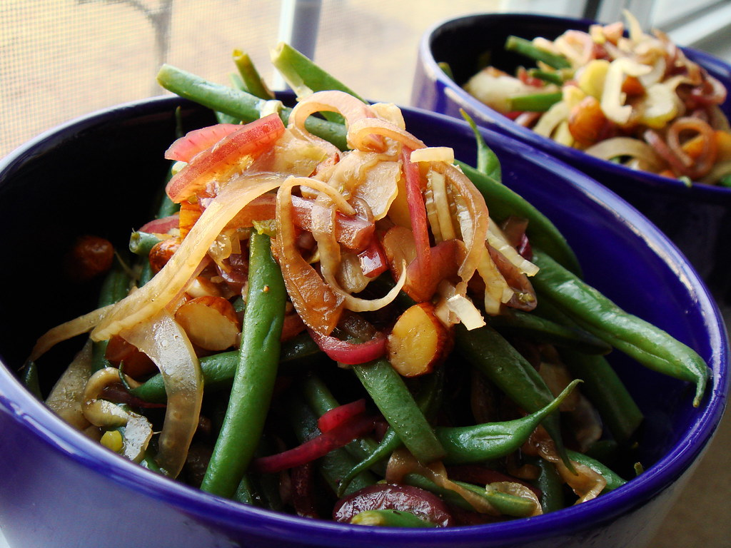Green Bean Salad with Fried Almonds | What an unusual but ut ...