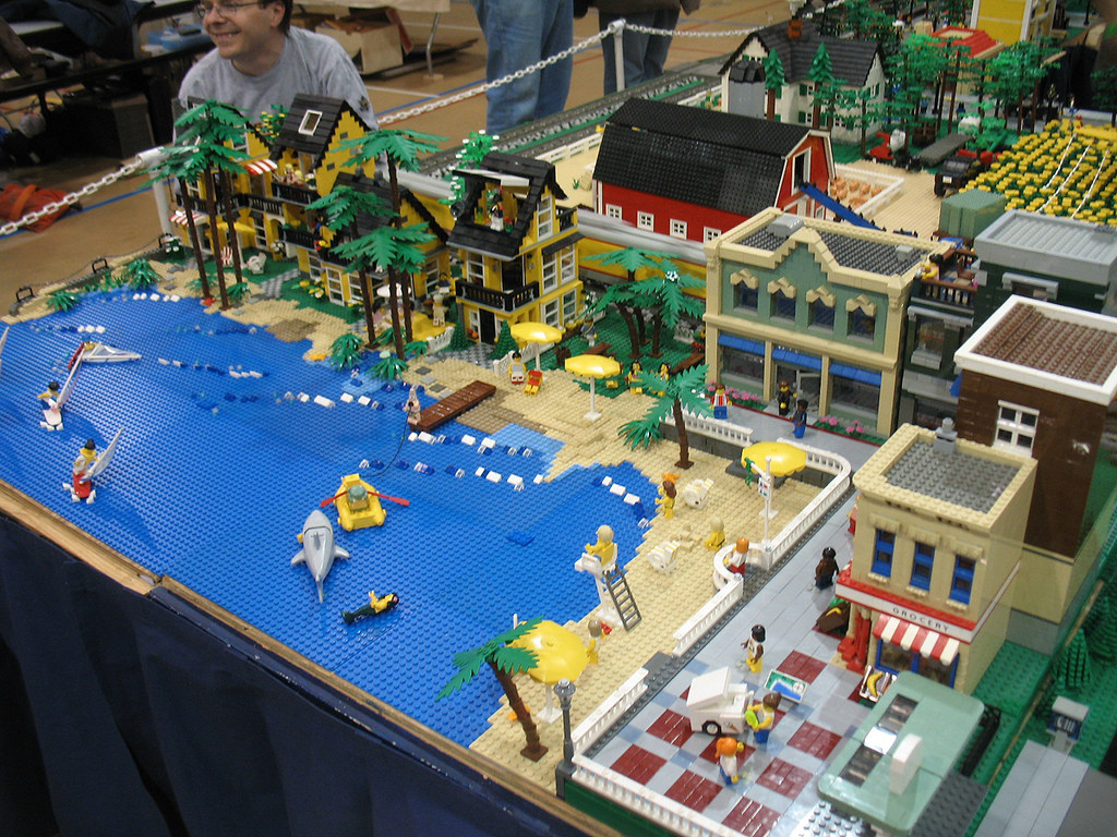 Michigan LEGO Train Club at Ann Arbor Train Show, Saline M ...