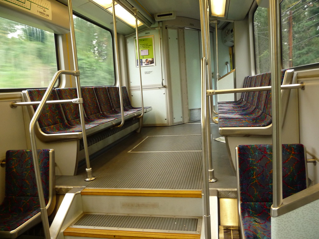 MBTA Green Line Type 8 LRV 3820 interior | This is the ...
