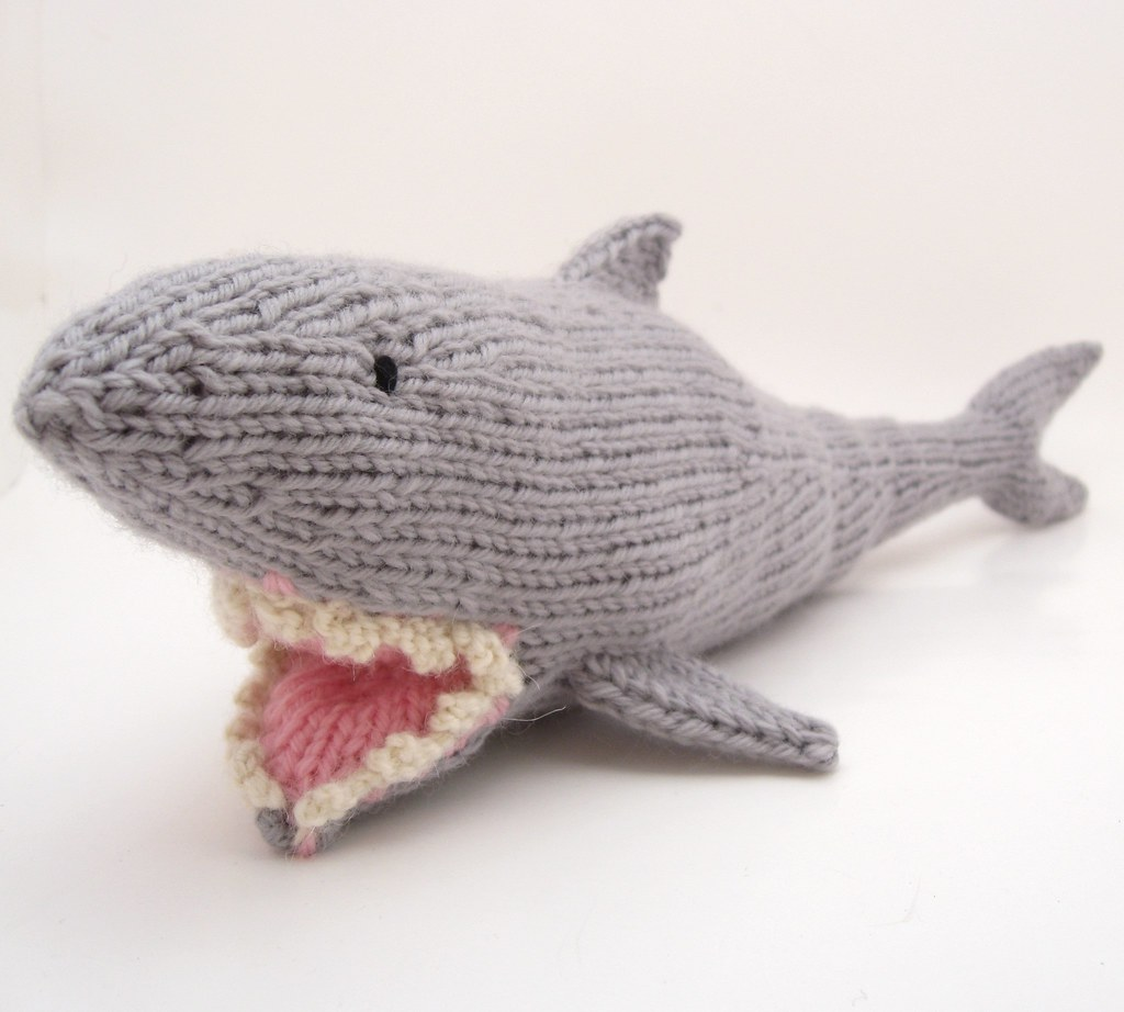 Shark | A shark made from my newest toy knitting pattern ...