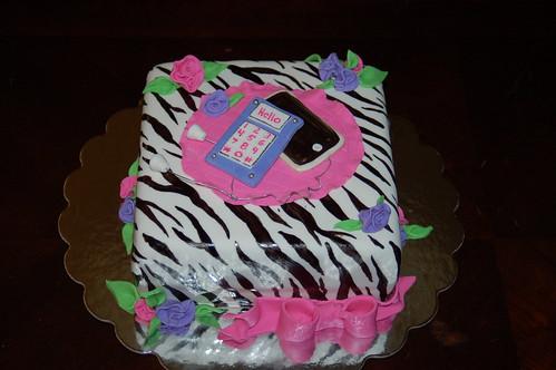 Hot pink and Zebra print cake My first Zebra - Flickr