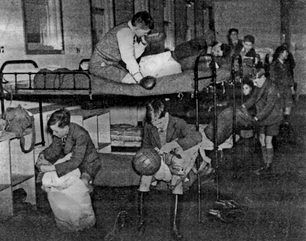 Getting Ready For Sports Or Bed During The War