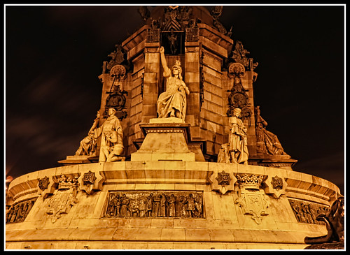 Base of Columbus Statue at Night | by Glenn Shoemake