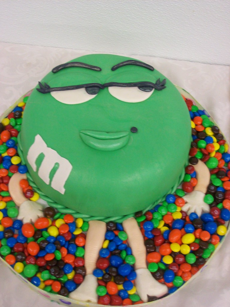 Green lady m m this cake was made for my cake club the for M m cake decoration