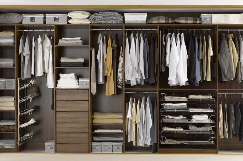 Sliderobes fitted wardrobe dark wood interior | Sliderobes | Flickr