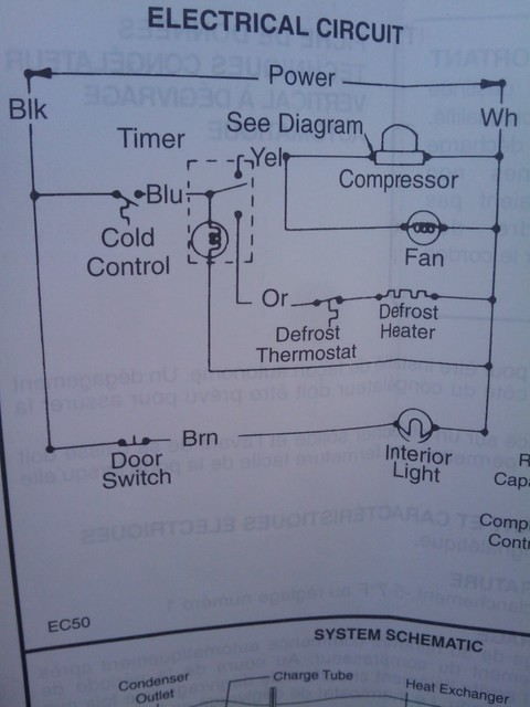Kenmore Freezer Model 253 21421101 Schematic Diagram