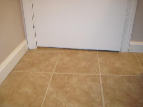 Floor Trim For Bathroom : St floor bathroom baseboard down just need to replace