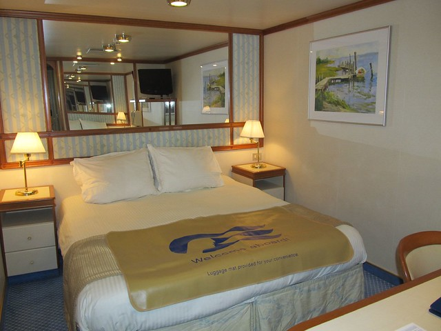 Emerald Princess Oceanview Room With Bunk Beds