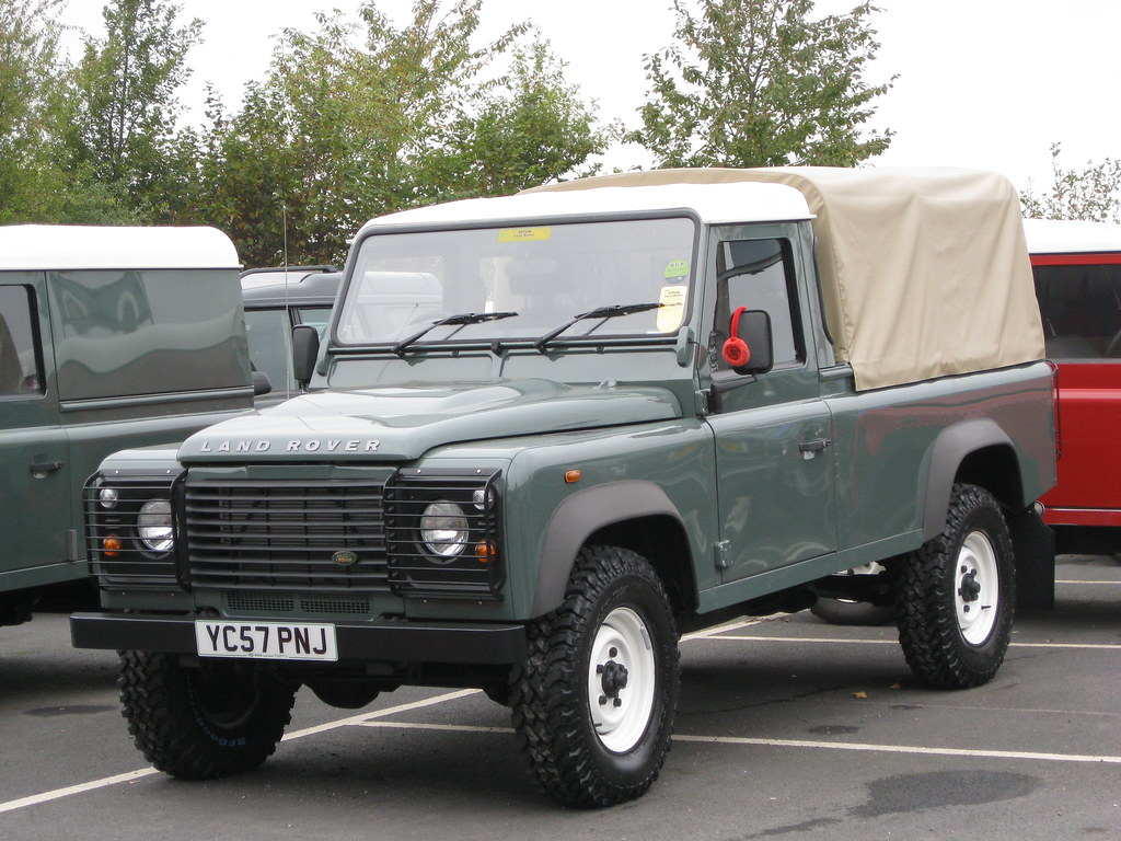 defender 110 pickup at ripon land rover michael flickr. Black Bedroom Furniture Sets. Home Design Ideas