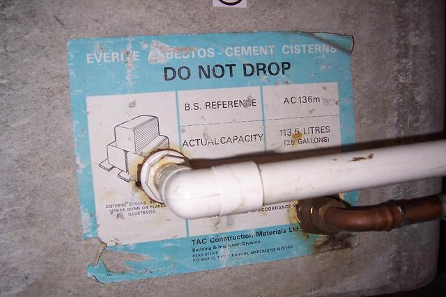 Water Tank Asbestos : Everite asbestos cement cistern flickr photo sharing