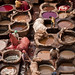 Coloring process at the tanneries  in the Fez Medina, Morocco
