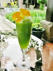 Mint, orange and cilantro intermezzo at Pangea