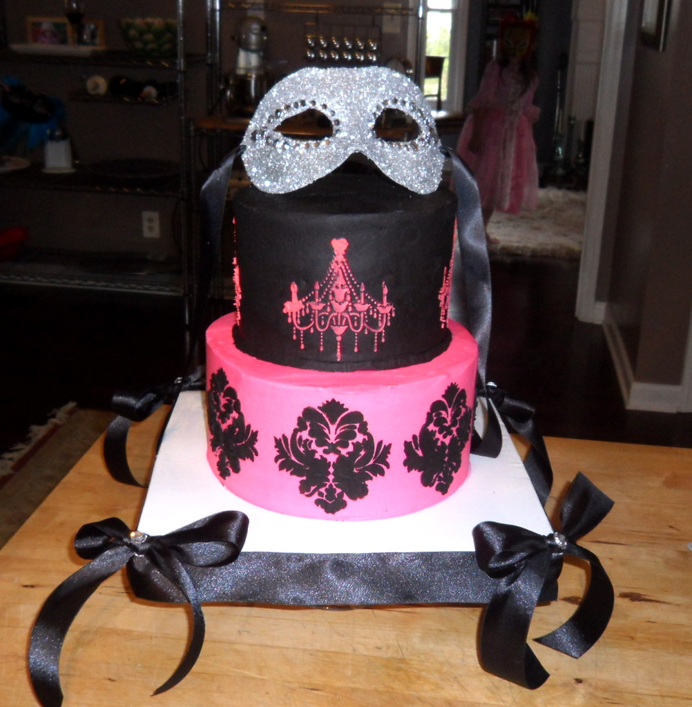 Cake Arch Balloon Design : Masquerade Ball Themed Birthday Cake Cake I made for my ...