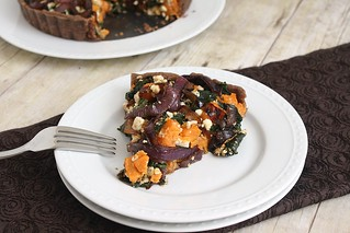 Swiss Chard, Sweet Potato & Feta Tart | by Tracey's Culinary Adventures