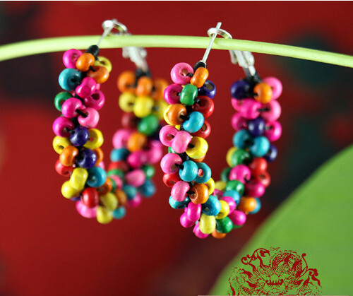 Color Bead Beads Earrings(colorful