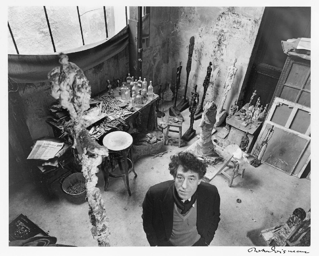 [ D ] Robert Doisneau - Alberto Giacometti in his studio i ...
