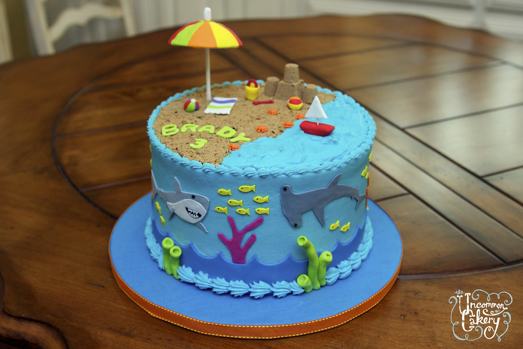 Beach Themed Birthday Cake Designs