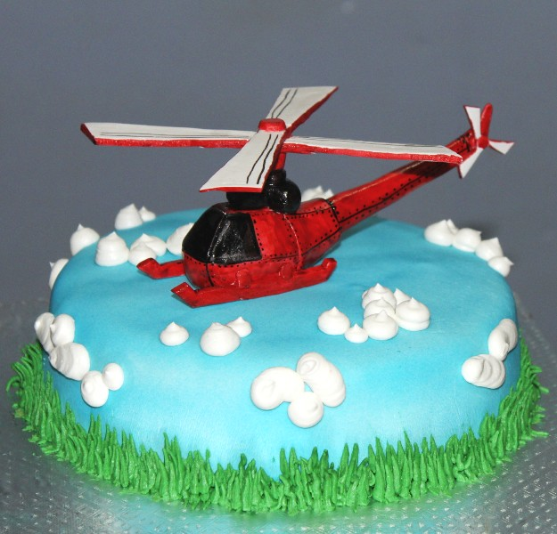 Happy Birthday Helicopter Cake