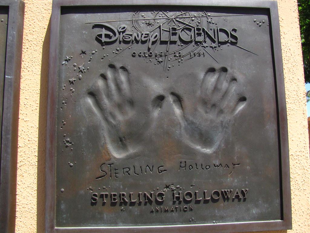 Sterling Holloway Disney Legend at the Disney Legends Plaz ...