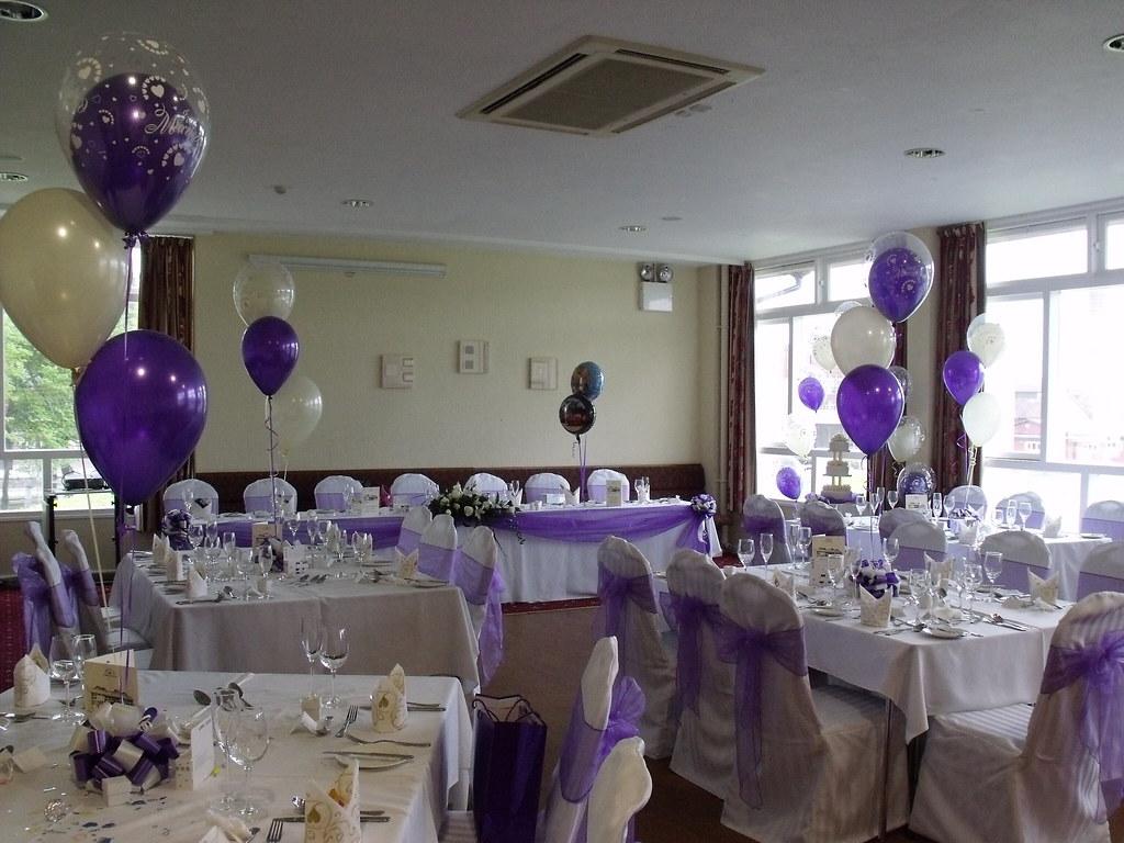 Purple Wedding Decorations Held At The Fry Club Kenysham