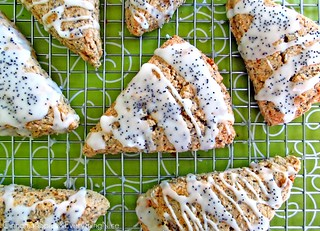 Lemon Poppy Seed Scones | by CinnamonKitchn