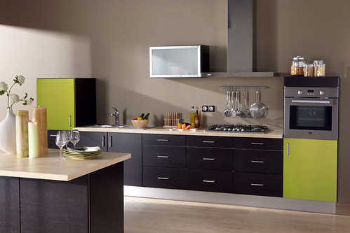 Cuisine quip e verte mod le design brillant bergame for Photo cuisine equipee