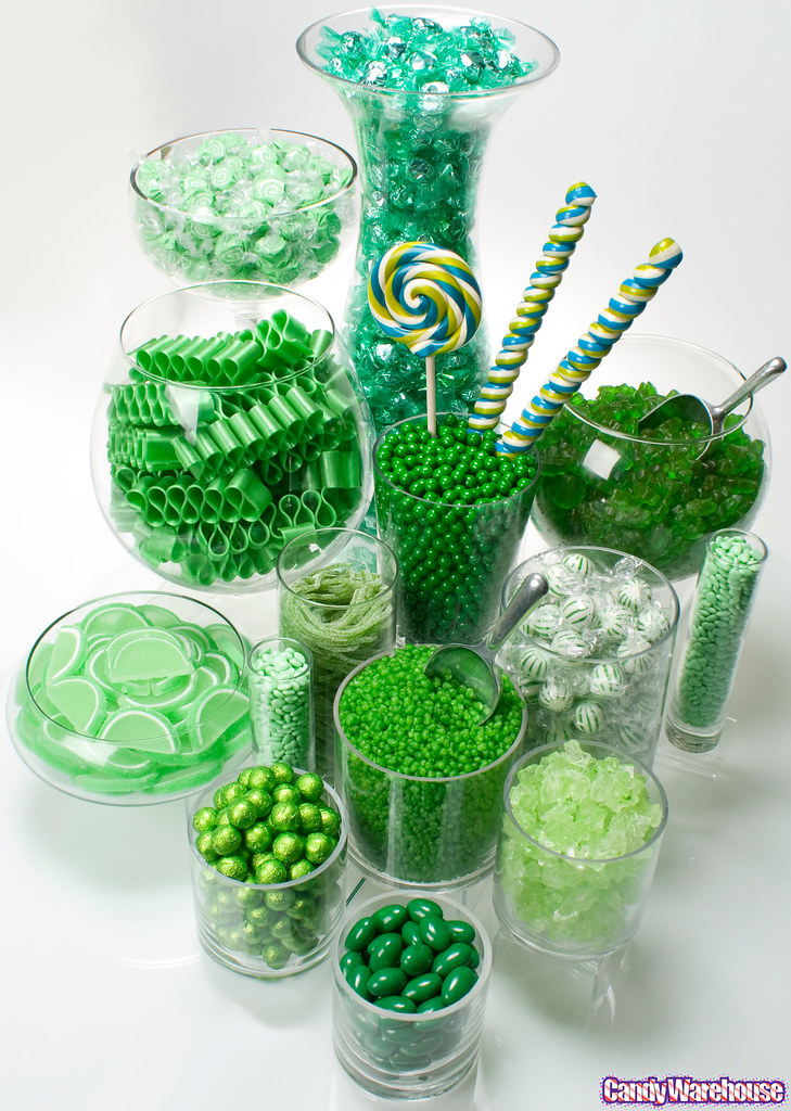 Green Candy Buffet A Delicious Collection Of Candy In An