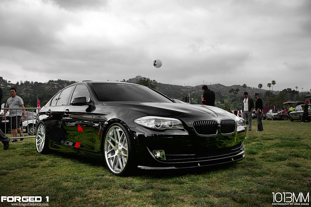 Bmw F10 528i On Forged 1 Seven Mesh Forged One Wheels