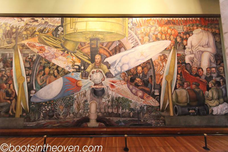 Diego rivera mural reproduction of the one destroyed by for Diego rivera rockefeller mural