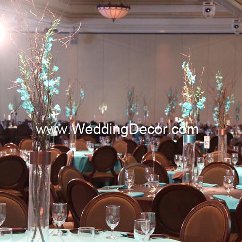 Wedding centerpieces birch branches blue orchids flickr