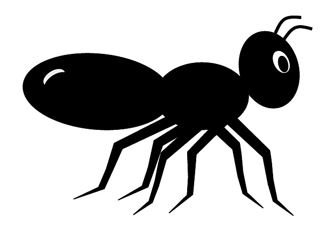 Black ant clip art, cute style lge 11cm long | This ...