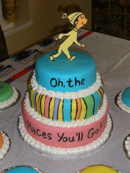 Graduation Cake Dr Seuss Oh The Places You Ll Go Clo