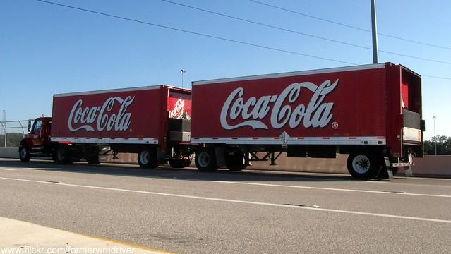 Double trailer semi truck