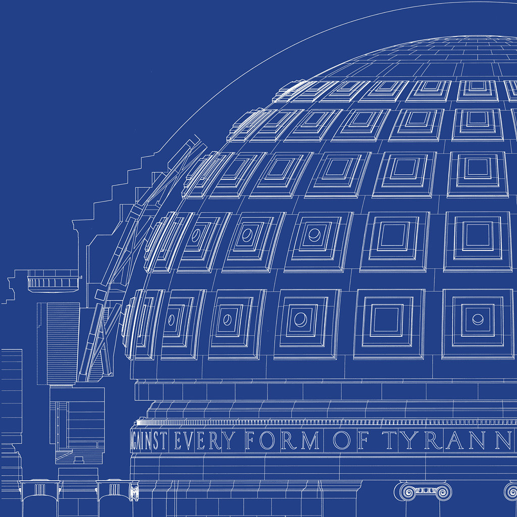Jefferson memorial blueprint from for Where to print blueprints