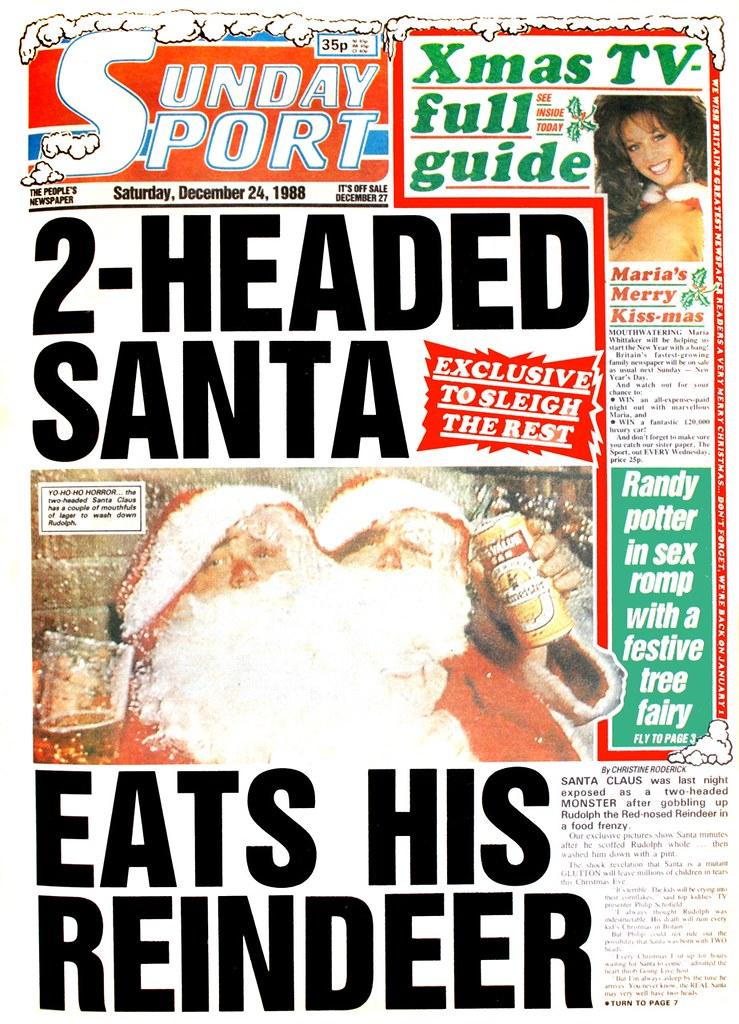 Sunday Sport - 2-headed Santa eats his reindeer | When Sunda ...