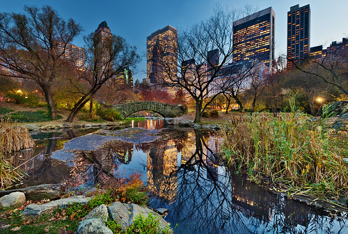 Beautiful night of Fall on Central Park and New York city skyline, NYC, NY | HDR | by David Giral | davidgiralphoto.com