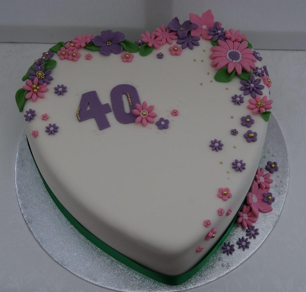 """A 10"""" Heart Shaped Birthday Cake"""