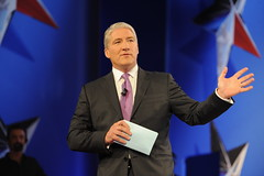 Debate moderator, CNN host John King