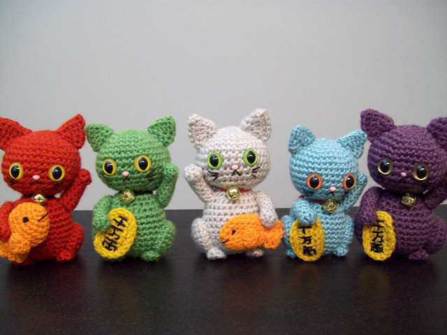 maneki neko amigurumi group Flickr - Photo Sharing!