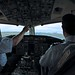 Ready to depart runway 9 in Boston