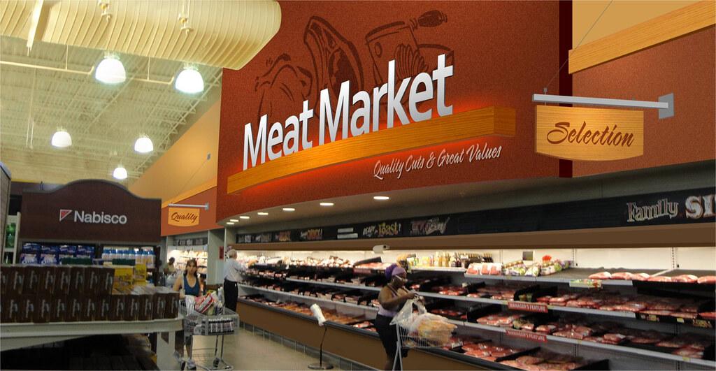 Grocery Store Design Meat Department Design Interior G Flickr