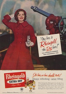 My Beer Is Rheingold - the Dry Beer says Madelyn Darrow Miss Rheingold 1958 | by The Cardboard America Archives