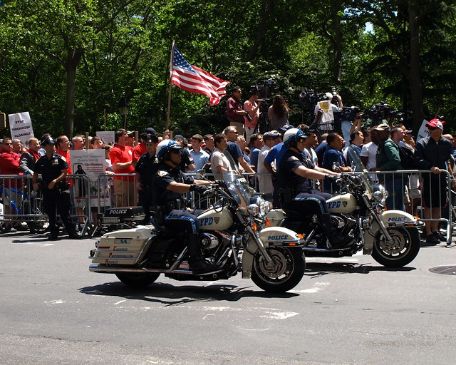 Nypd Motorcycle Police Officers City Hall New York City