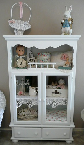 white cupboard | by seaside rose garden