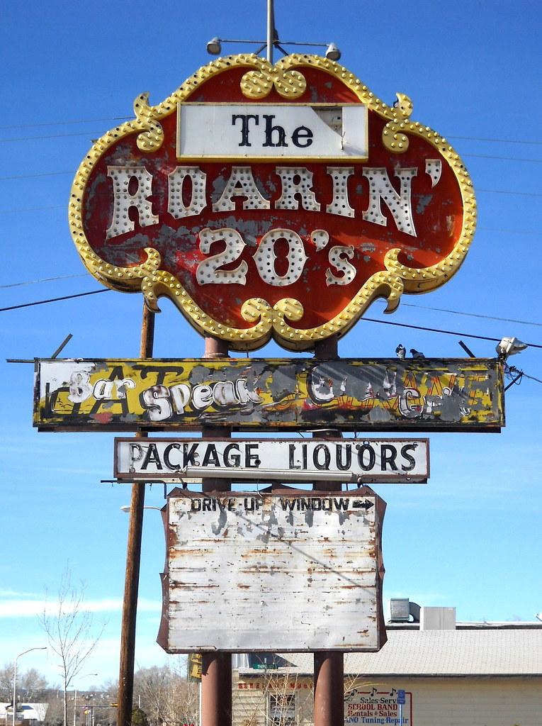 The Roarin 20 S Neon Sign Historic Route 66 Grants Nm